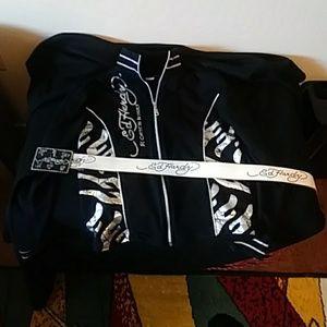 Ed Hardy jacket and belt